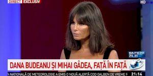"""Mihai Gâdea a luat-o la întrebări pe Dana Budeanu: """"Cine sunt amețitele despre care vorbești?"""" Ce a răspuns Budeanca!"""